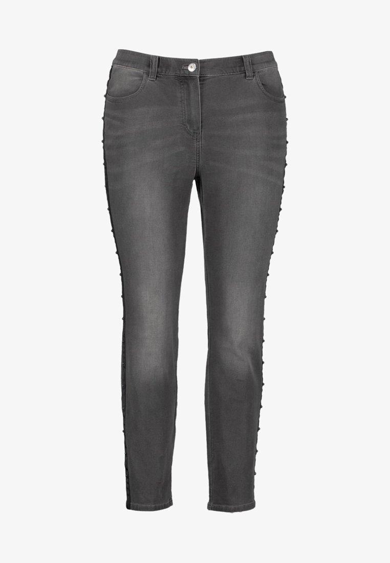 Samoon - MIT GALONSTREIFEN - Slim fit jeans - grey denim