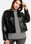Samoon - MIT LACK-OPTIK - Faux leather jacket - black