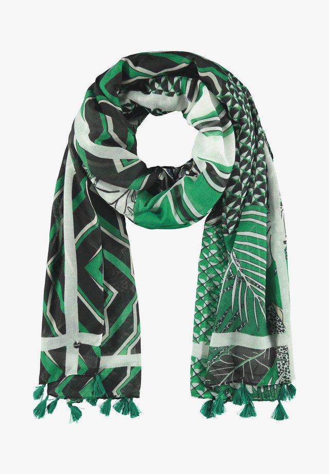 Sjaal - leaves green gemustert