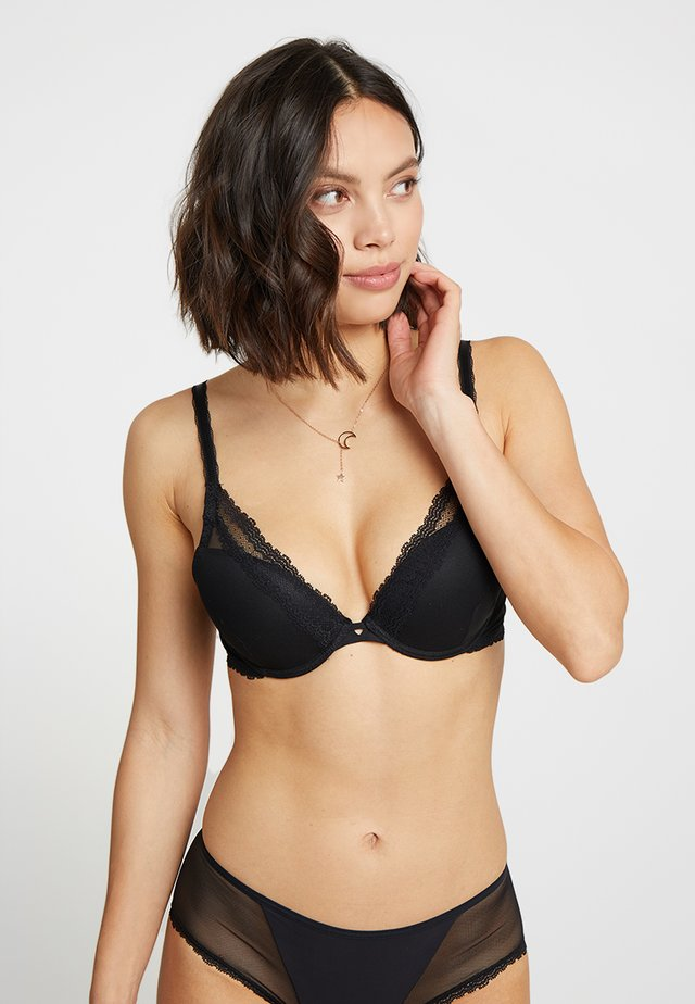CONFIANCE TRIANGEL - Push-up BH - schwarz