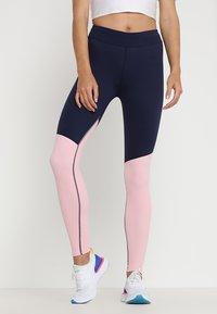 Skins - DNAMIC LONG  - Trikoot - cameo pink/navy blue - 0