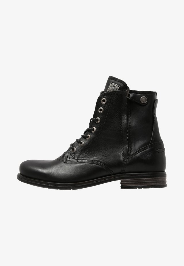 KINGDOM - Lace-up ankle boots - black