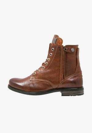 KINGDOM - Lace-up ankle boots - cognac