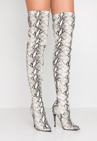 Steve Madden - DOMINIQUE - Boots med høye hæler - natural - 0