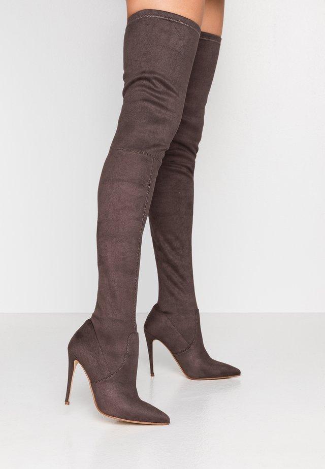 DOMINIQUE - Højhælede støvler - dark grey