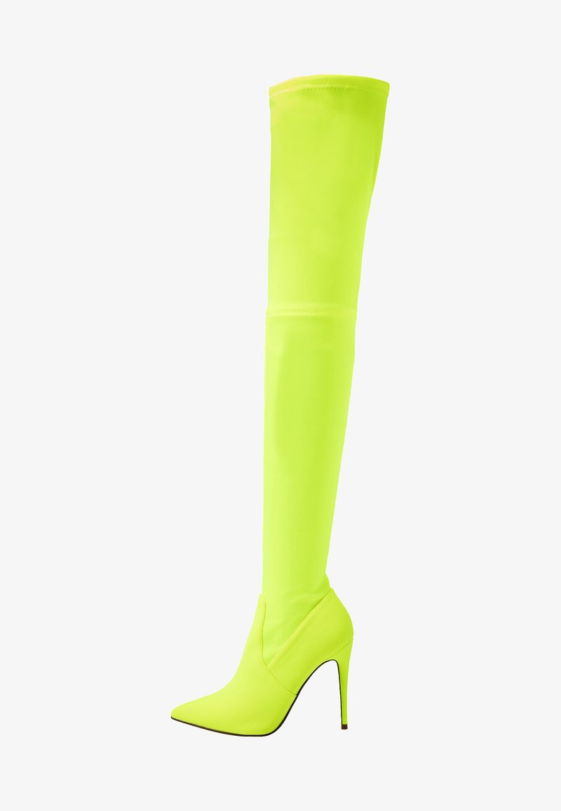 Steve Madden - DOMINIQUE - High heeled boots - neon yellow