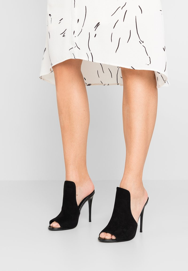 Steve Madden - SINFUL - Heeled mules - black