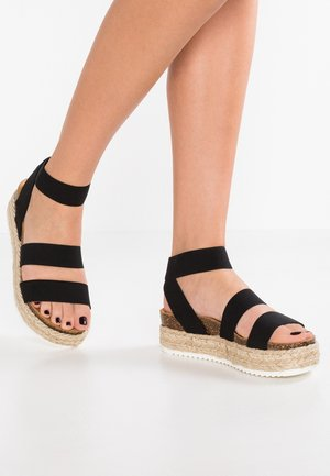 KIMMIE - Sandalen met plateauzool - black