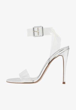 SEEME - Sandály na vysokém podpatku - silver