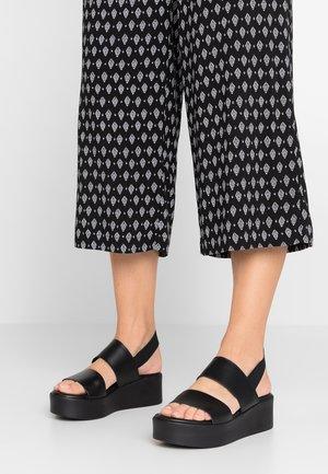 RENE - Sandalen met plateauzool - black