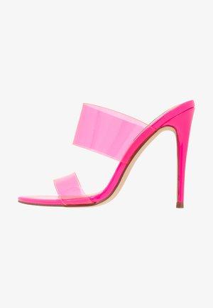 CHARLEE - Muiltjes met hak - pink neon