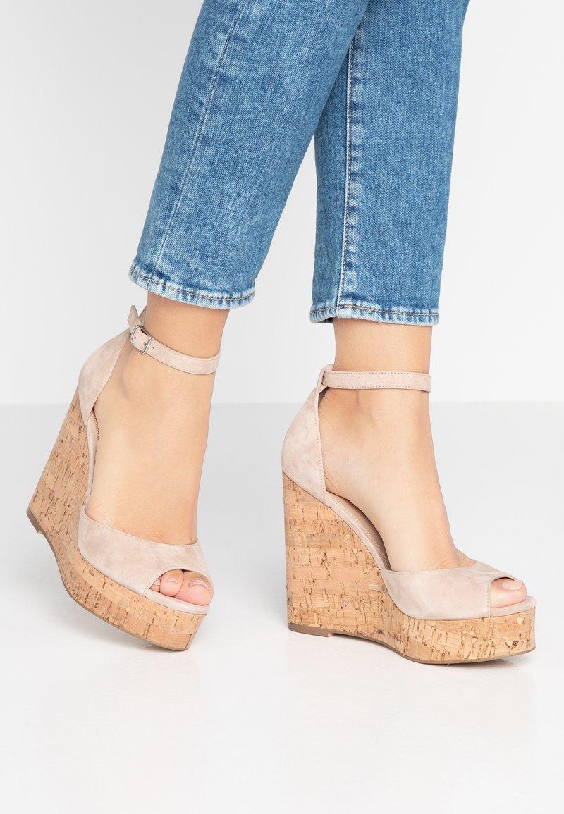 Steve Madden - SUMMERS - Højhælede sandaletter / Højhælede sandaler - tan