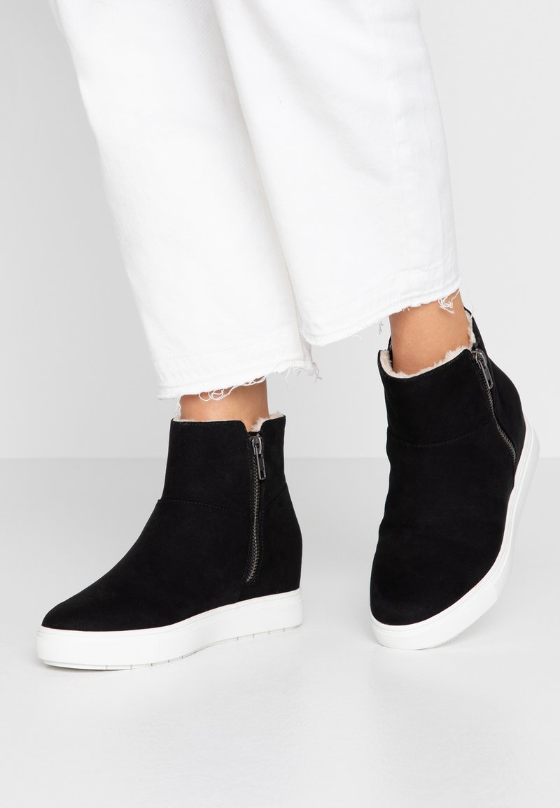 Steve Madden - SUTTON - Wedge Ankle Boots - black
