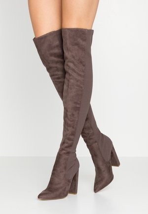 ESSENCE - High heeled boots - grey