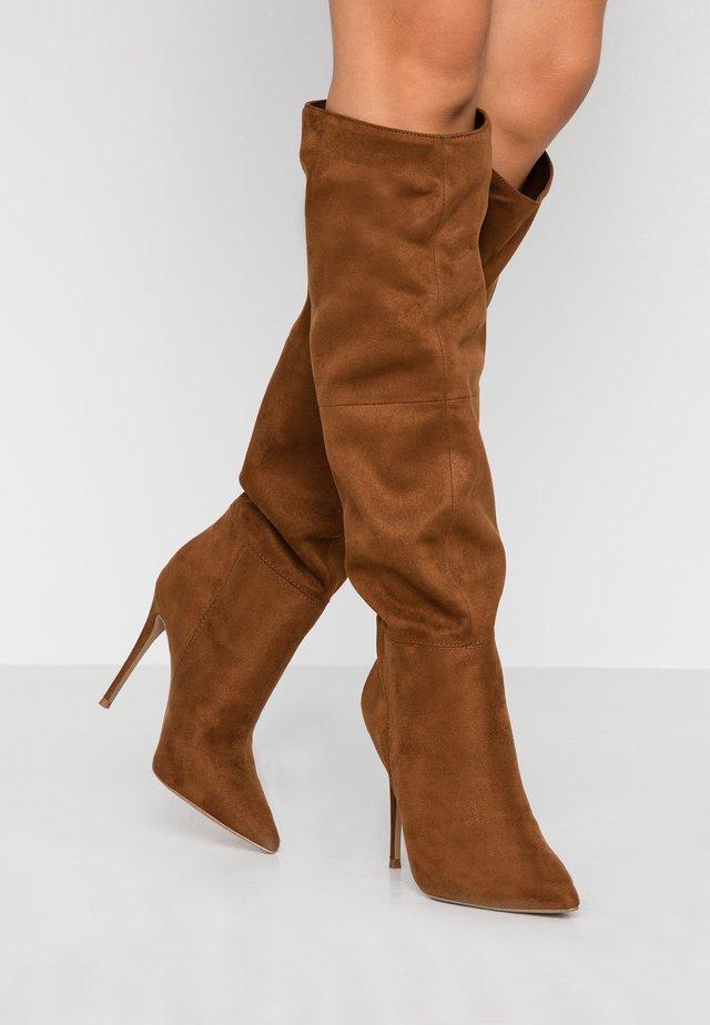 DAKOTA - High Heel Stiefel - brown
