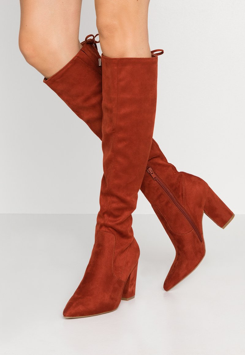 Steve Madden - RISKY - High heeled boots - rust