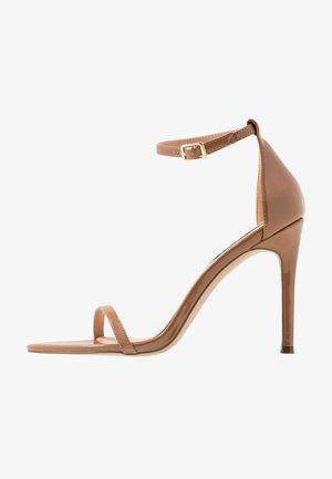 ABBY - Sandalen met hoge hak - camel