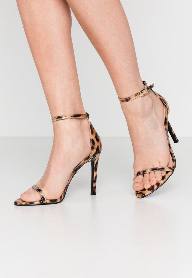 ABBY - High heeled sandals - brown