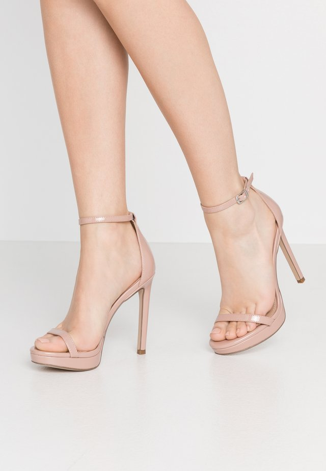 MILANO - High heeled sandals - dark blush