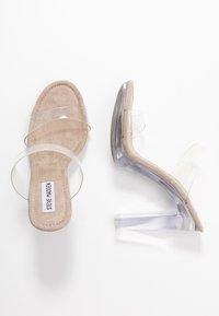 Steve Madden - GLASSY - Pantofle na podpatku - clear - 3