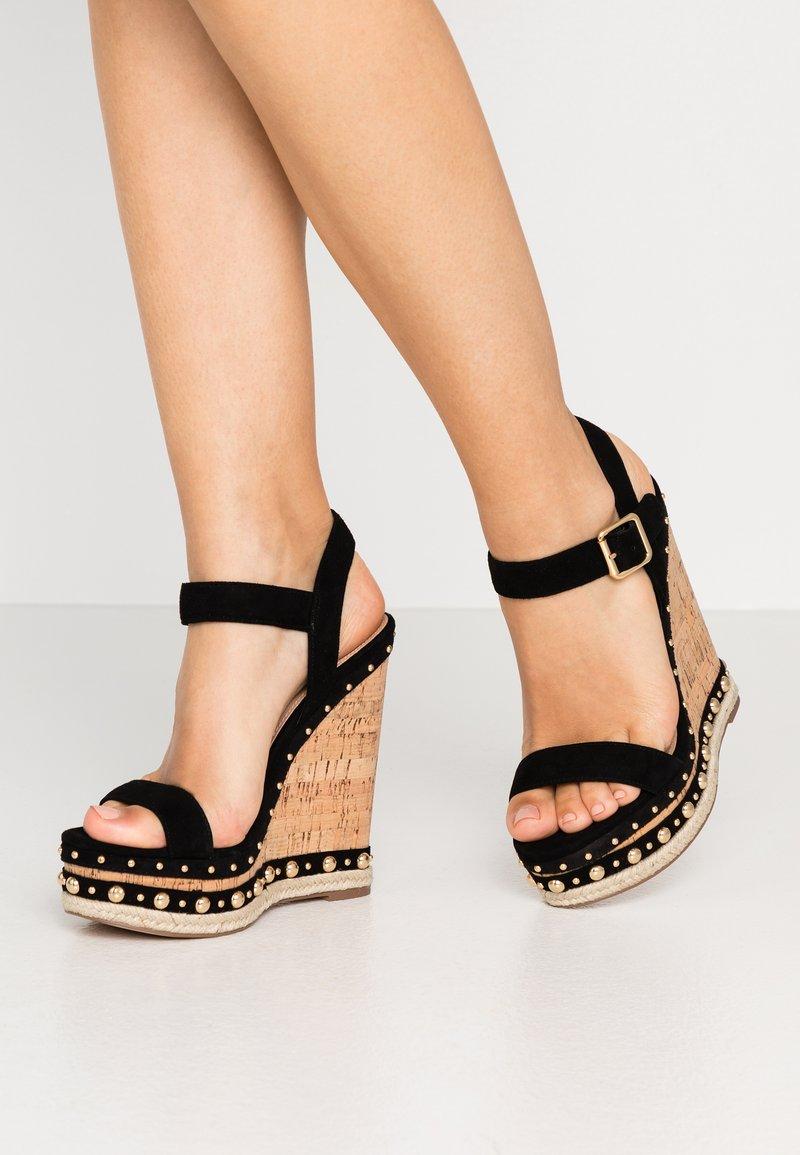 Steve Madden - MAURISA - Sandaler med høye hæler - black