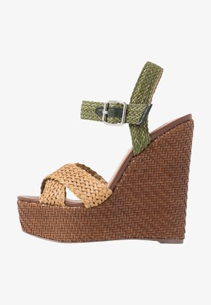 MOANA - High heeled sandals - natural/multicolor