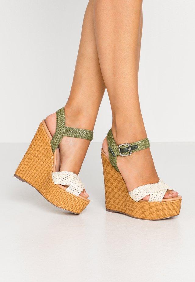 MOANA - High Heel Sandalette - white/multicolor