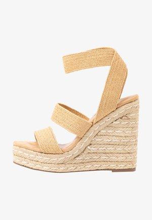 SHIMMY - High heeled sandals - natural