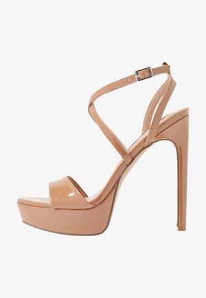 STUNNING - High heeled sandals - camel