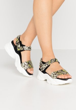 PLAYERS - Platform sandals - citron/multicolor