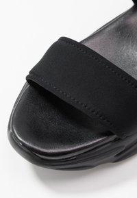 Steve Madden - PLAYERS - Platform sandals - black - 2