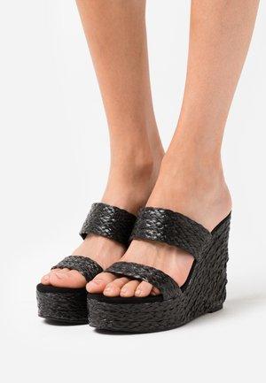 SUNFLOWER WEDGE - Sandaler - black