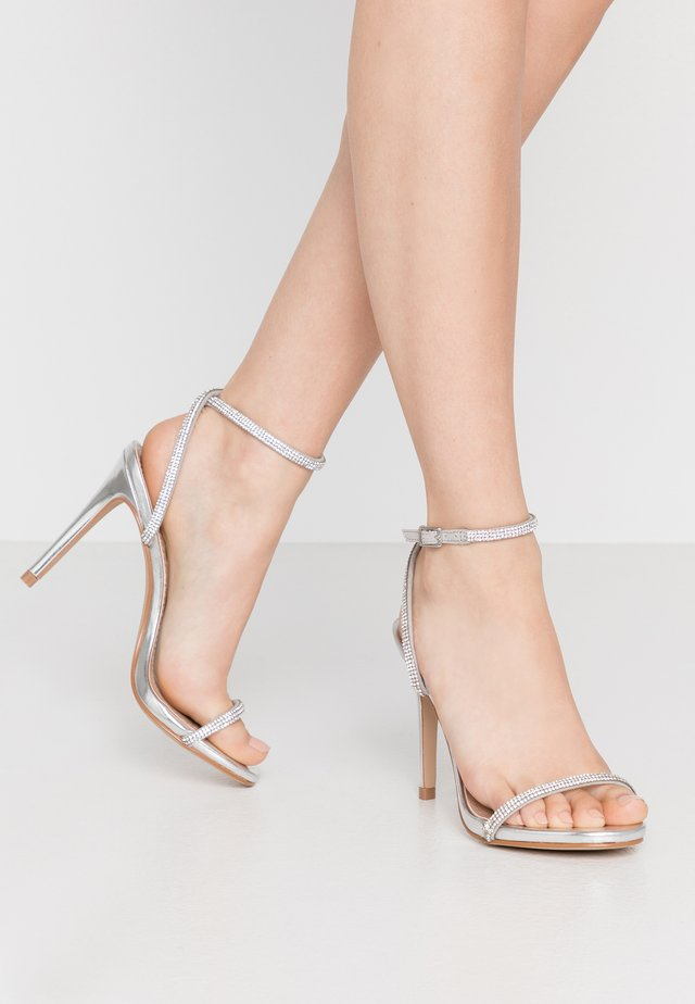 FESTIVE - High heeled sandals - silver