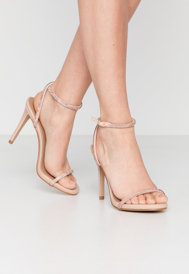 FESTIVE - High heeled sandals - blush