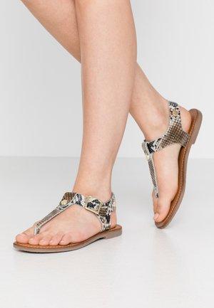 TALLY - Sandalias de dedo - natural