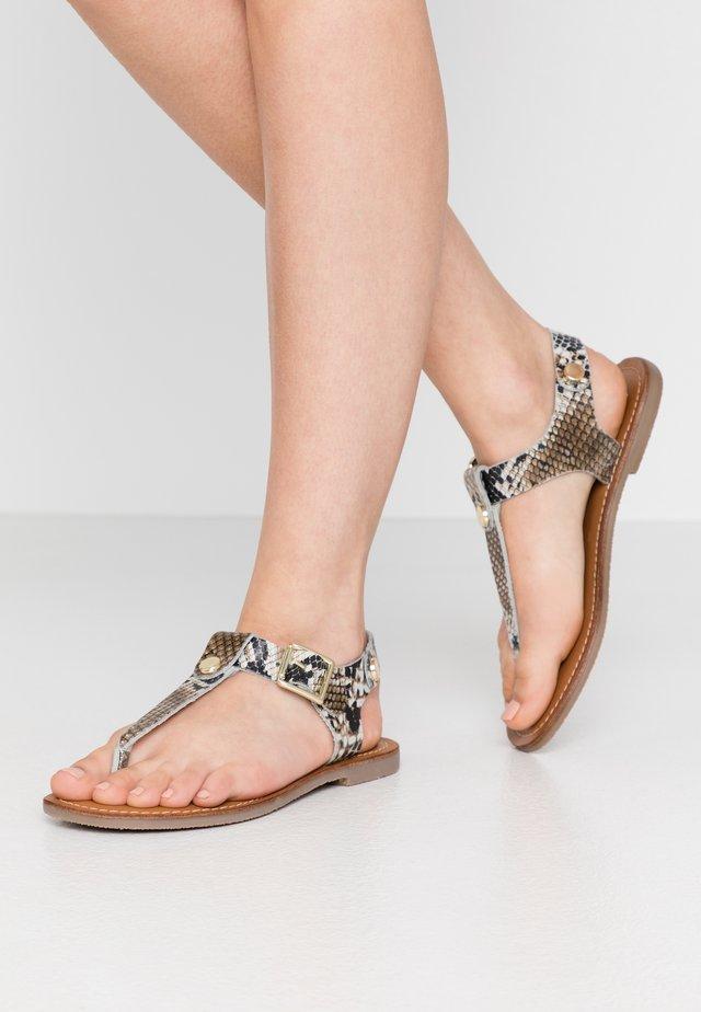 TALLY - T-bar sandals - natural