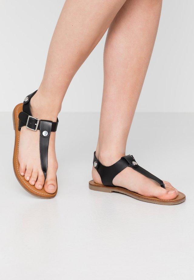 TALLY - Sandaler m/ tåsplit - black