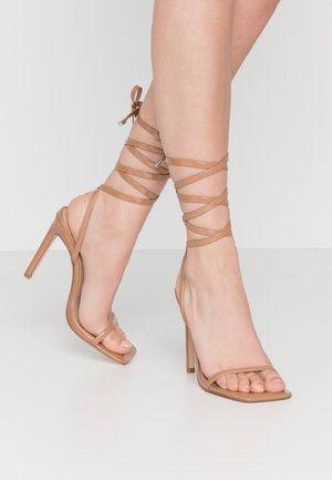 UPLIFT - High heeled sandals - camel