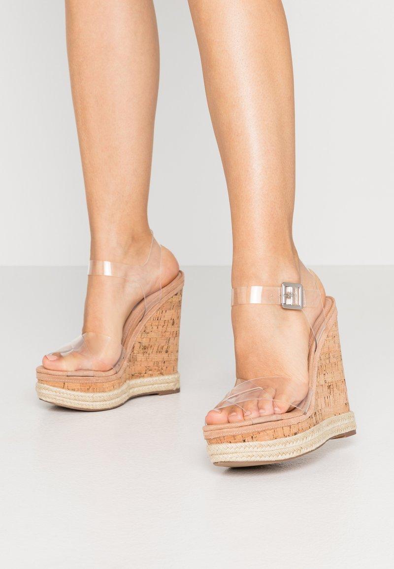 Steve Madden CLEARER - High Heel Sandalette - clear/nude