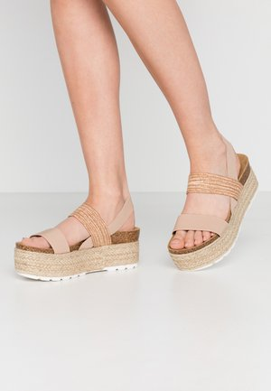 CHRISTIA  - Espadrilles - natural/multicolor