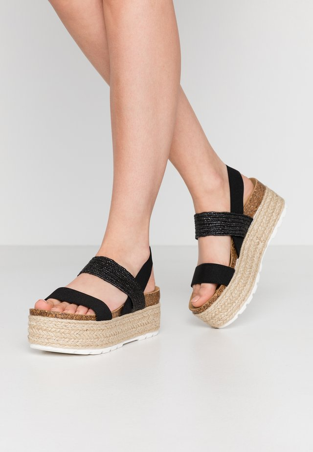 CHRISTIA  - Espadrilles - black/multicolor