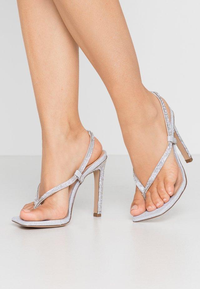 BASHMENT - T-bar sandals - silver