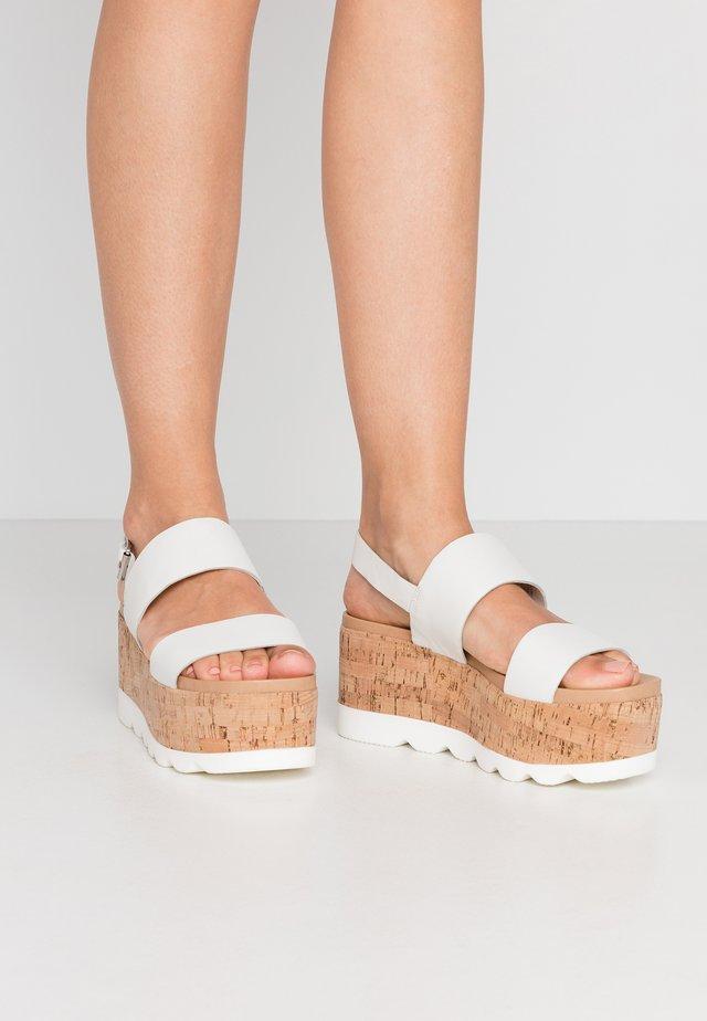 HAZY - Sandály na platformě - white