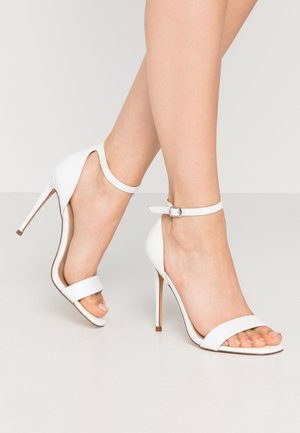 REEVES - High heeled sandals - white