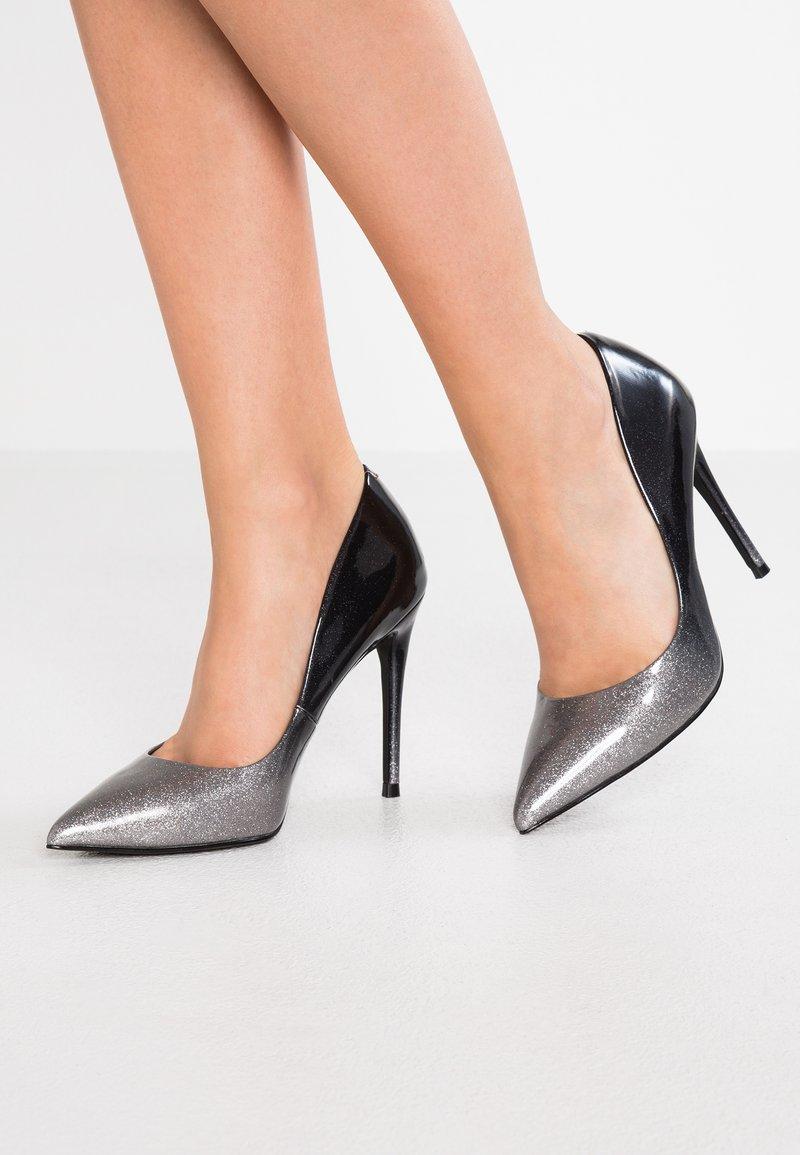 Steve Madden - DAISIE - High heels - black/silver