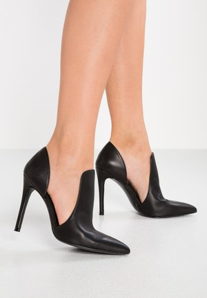 DANCE - High heeled ankle boots - black