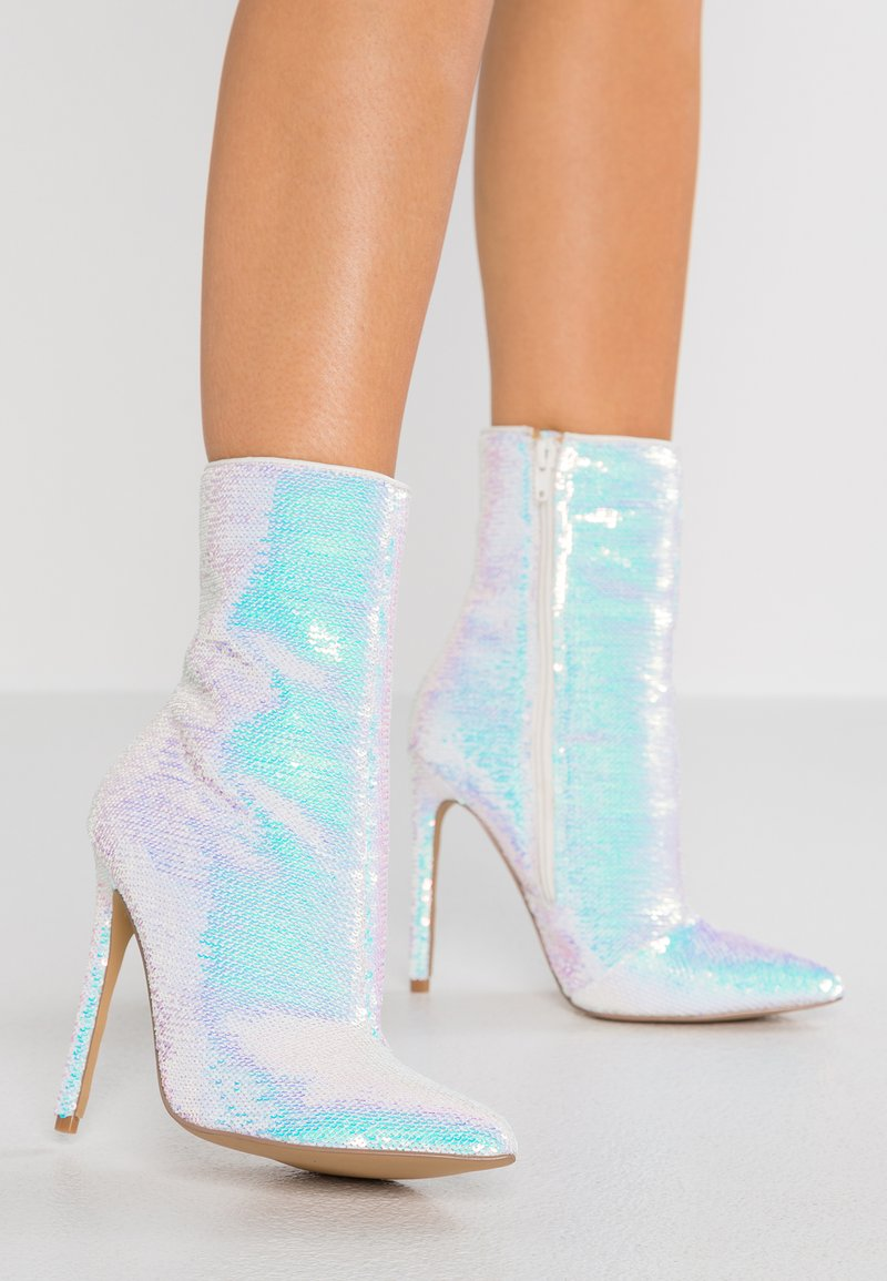 Steve Madden - WAGNER - High heeled ankle boots - silver