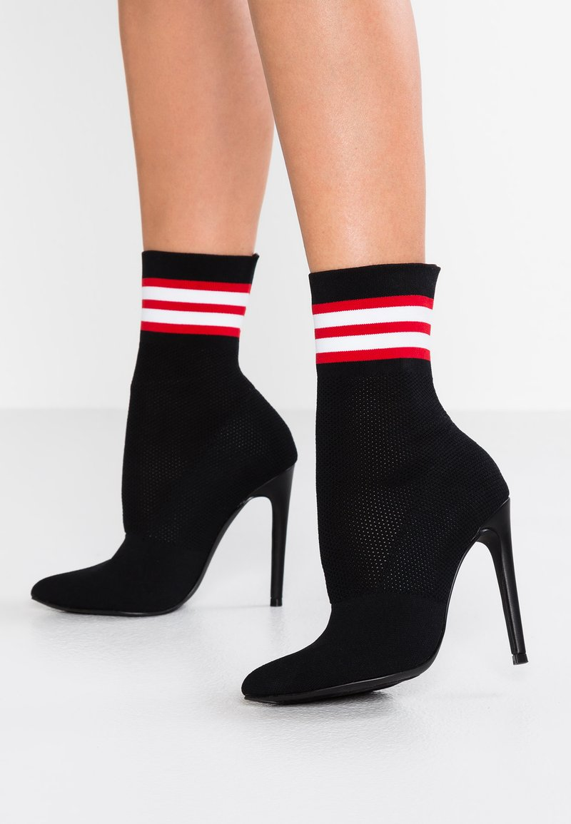 Steve Madden - CENTURY - High heeled ankle boots - black/multicolor