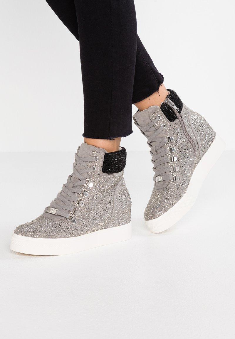 Steve Madden - COREY - Sneakers hoog - silver/multicolor