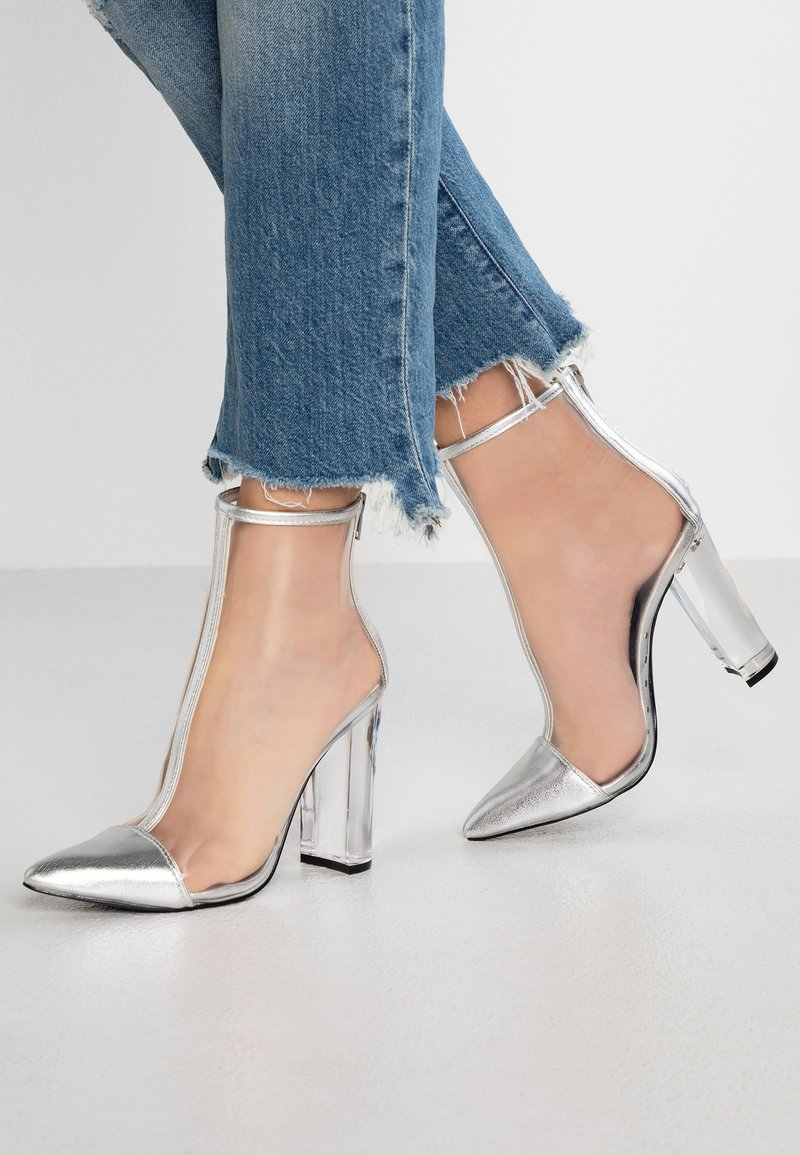 Steve Madden - CLANCY - High heeled ankle boots - silver